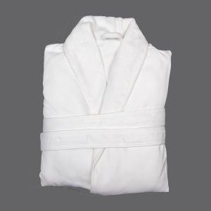 Fuji White Microfiber Robe