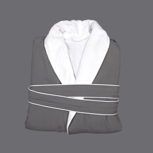 Fuji Grey Microfiber Robe
