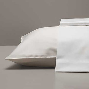 Georgetown Polycotton Sateen White Standard/Queen Set of Two Pillow Cases, 300 thread count