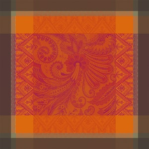 "Grace Flamboyant Jacquard Napkin 21""x21"", 100% cotton Image"