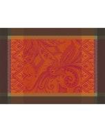 Grace Flamboyant Jacquard Placemat, Stain Resistant Cotton Image