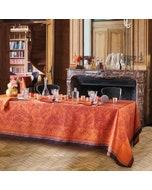 Grace Flamboyant Jacquard Tablecloth, Stain Resistant Cotton Image