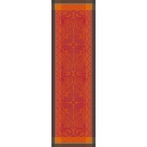 Grace Flamboyant Jacquard Tablerunner, Stain Resistant Cotton Image