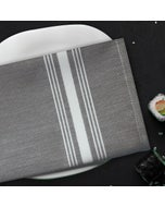 Reverse Bistro Grey Chambrey Napkin, 100% Polyester, Set of 4