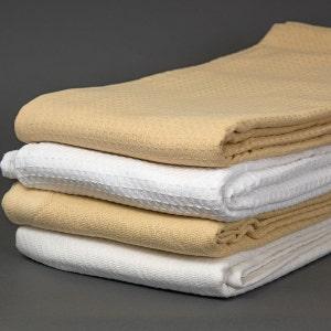 Honeycomb White Queen Blanket, 100% Cotton