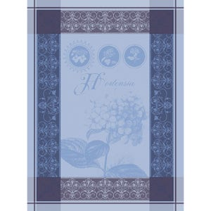 Hortensia Blue Kitchen Towel