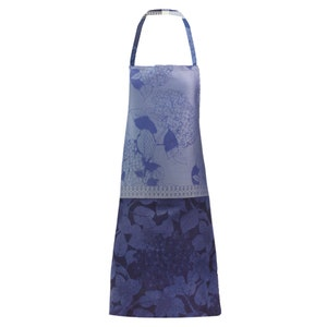 Hortensias Bleu Apron, Green Sweet Stain-Resistant Organic Cotton