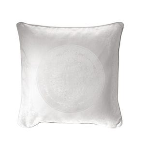 "Comtesse Blanche White Cushion Cover 20""x20"", 100% Cotton"