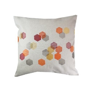 Hexagones Cuivre Cushion Cover