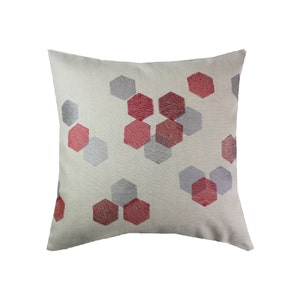 Hexagones Grenat Cushion Cover