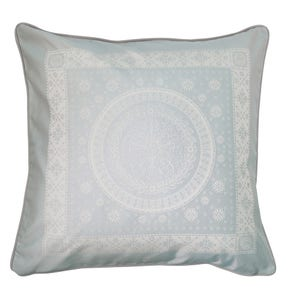 "Imperatrice Uni Argent Cushion Cover 20""x20"", 100% Cotton"
