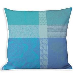 Mille Gardenias Lagon Cushion Cover
