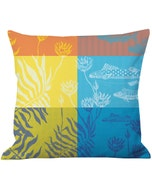 "Aquatic Rainbow Cushion Cover 20""x20"", 100% Cotton"