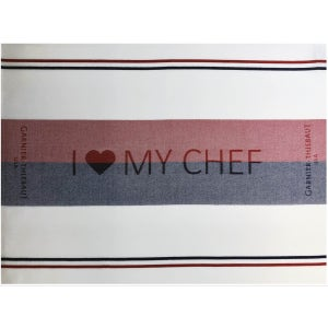 "COMITE TRICOLORE I love my chef Napkin 22""x16"", 100% Cotton"