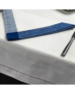 Intramuri White Tablecloth with Colored Hemstitch