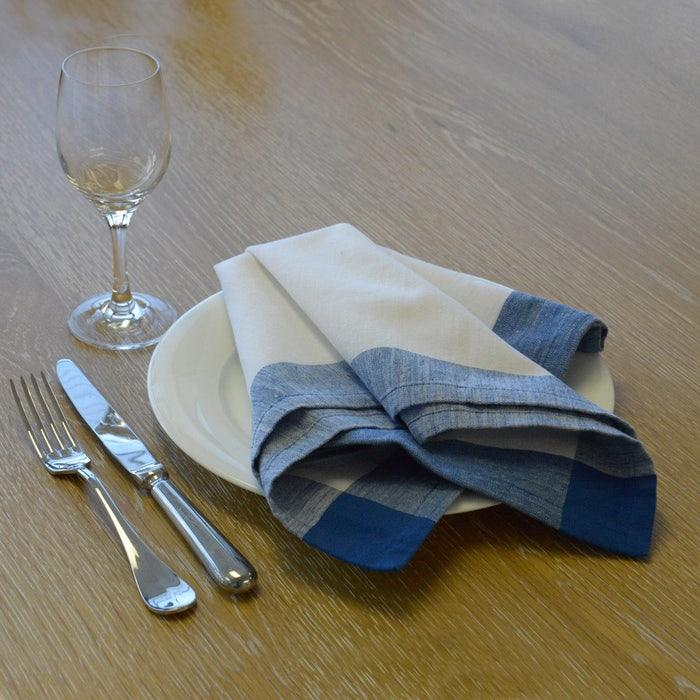Intramuri Blue Napkin, 100% Cotton, Set of 4