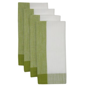 "Intramuri Green Napkin 22""x23"", 100% Cotton, Set of 4"