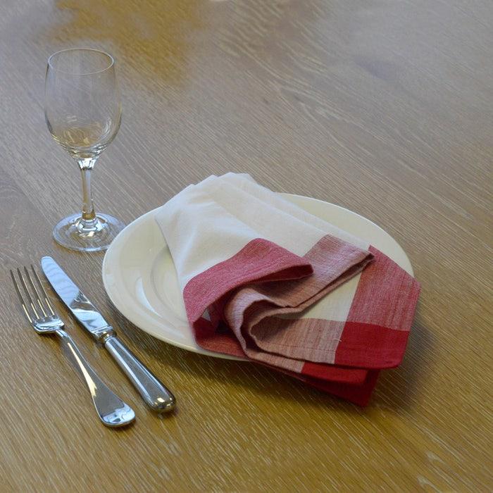 Intramuri Red Napkin, 100% Cotton, Set of 4