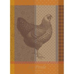 La Poule Rousse Jacquard Kitchen Towel Image