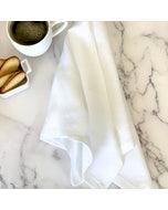 Pure Linen White Napkin, 100% Linen, Set of 4