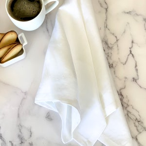 "Pure Linen White Napkin 22""x22"", 100% Linen, Set of 4"