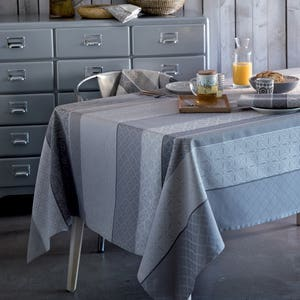 """Mille Bastides Charbon Tablecloth 59""""x59"""", Coated Cotton"""