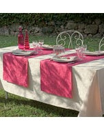 Mille Charmes Ecru De Blanc Jacquard Tablecloth