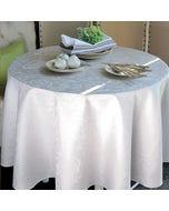 Mille Charmes Blanc Jacquard Tablecloth
