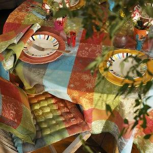 """Mille Couleurs Paris Tablecloth Round 71"""", 100% Cotton"""