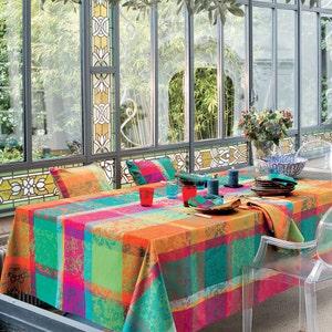 """Mille Dentelles Floralies Tablecloth Round 71"""", 100% Cotton"""