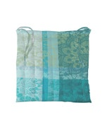 Mille Dentelles Turquoise Chair cushion, Coated Cotton