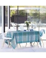 Mille Dentelles Turquoise Jacquard Tablecloth