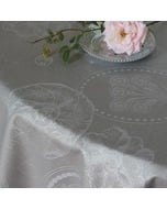 Mille Eclats Macaron Irise Jacquard Tablecloth, Coated Cotton
