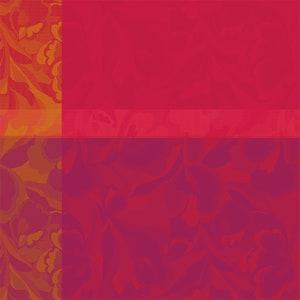 Mille Folk Cranberry Jacquard Napkin, 100% Cotton Image
