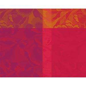 """Mille Folk Cranberry Jacquard Placemat 16""""x20"""", 100% Cotton Image"""