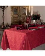 Mille Isaphire Mini Grenat Jacquard Tablecloth