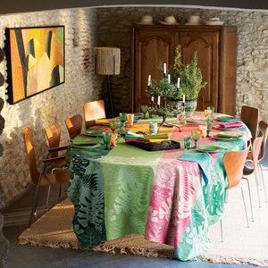 "Mille Palma Pop Tablecloth 71""x122"", 100% Cotton"
