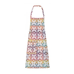 Mille Paves Flamboyant Apron, Coated Cotton
