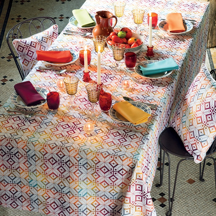 Mille Paves Flamboyant Jacquard Tablecloth