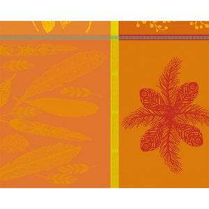 """Mille Phoenix Automne Jacquard Placemat 16""""x20"""", 100% Cotton Image"""