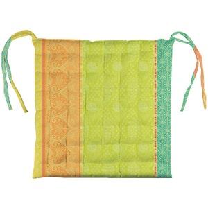 Mille Saris Kerala Chair Cushion, Coated Cotton
