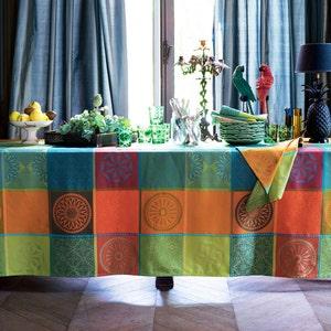 """Mille Sicilia Riviera Tablecloth 61""""x102"""", 100% Cotton"""