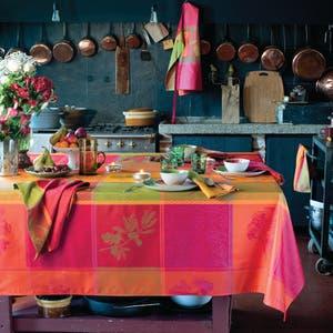 Mille Tutti Frutti Sangria Jacquard Tablecloth
