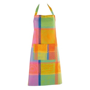 Mille Wax Creole Apron, Coated Cotton