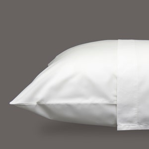 Monaco Percale White Pillowcases Set, 300 thread count