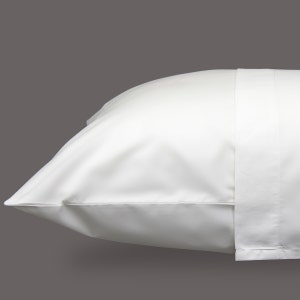 Monaco Percale White Standard/Queen Set of Two Pillow Cases, 300 thread count