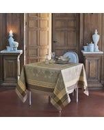 Fontainebleau Tilleul Jacquard Tablecloth, Stain Resistant Cotton
