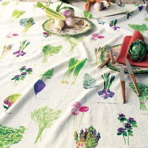 Mille Potager Printemps Tablecloth