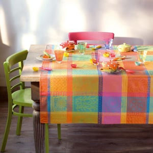 "Mille Wax Creole Tablecloth 71""x98"", 100% Cotton"