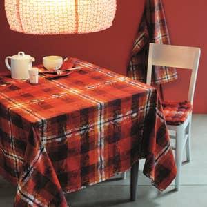 "Mille Panache Ara Tablecloth 71"" x 71"", 100% Cotton"